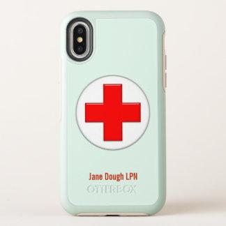 Capa Para iPhone X OtterBox Symmetry Modelo conhecido transversal da enfermeira