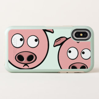 Capa Para iPhone X OtterBox Symmetry Porcos curiosos bonitos