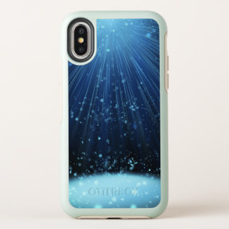Capa Para iPhone X OtterBox Symmetry Raios azuis Mystical