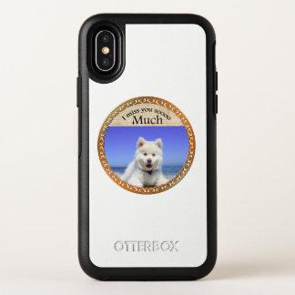 Capa Para iPhone X OtterBox Symmetry Rouco bonito com os olhos azuis que sentam-se na