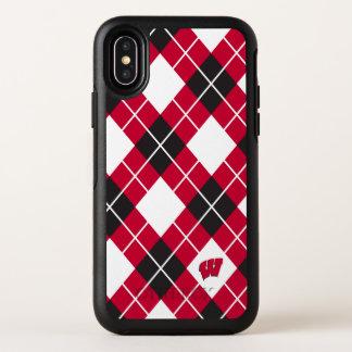 Capa Para iPhone X OtterBox Symmetry Teste padrão de Wisconsin | Argyle