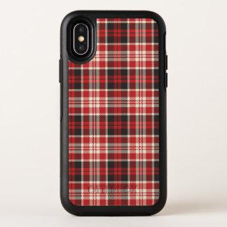 Capa Para iPhone X OtterBox Symmetry Teste padrão vermelho e preto da xadrez
