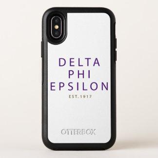 Capa Para iPhone X OtterBox Symmetry Tipo moderno do épsilon da phi do delta