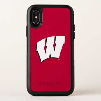 Capa Para iPhone X OtterBox Symmetry Universidade de Wisconsin | do logotipo de