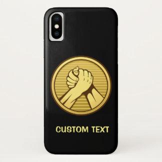 Capa Para iPhone X Ouro da luta de braço