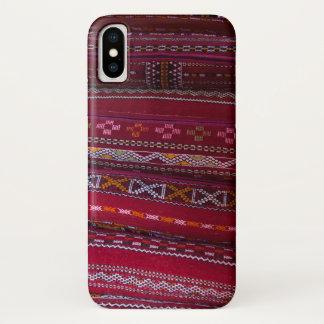 Capa Para iPhone X Padrões do travesseiro de matéria têxtil