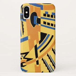 Capa Para iPhone X Padrões geométricos das formas do jazz retro do