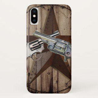 Capa Para iPhone X país ocidental das pistolas rústicas do vaqueiro