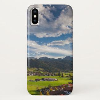 Capa Para iPhone X Paisagem alpina bávara