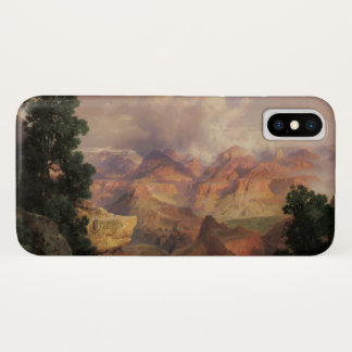 Capa Para iPhone X Paisagem do vintage, Grand Canyon por Thomas Moran
