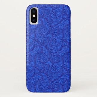 Capa Para iPhone X Paisley azul