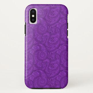Capa Para iPhone X Paisley roxo