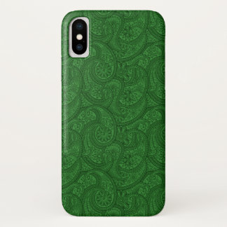 Capa Para iPhone X Paisley verde