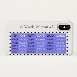 Capa Para iPhone X Palavras de Q sem um ajudante do jogo de U