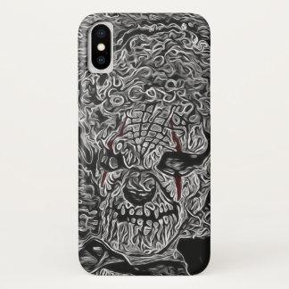 Capa Para iPhone X Palhaço assustador preto e branco