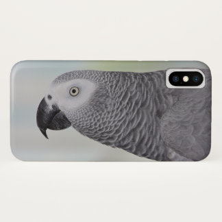 Capa Para iPhone X Papagaio lindo do cinza africano