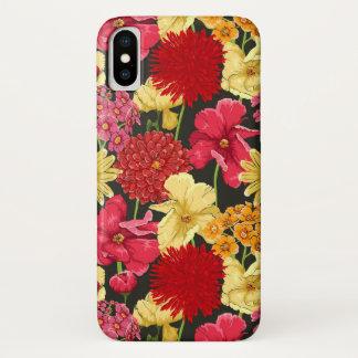 Capa Para iPhone X Papel de parede floral no estilo da aguarela