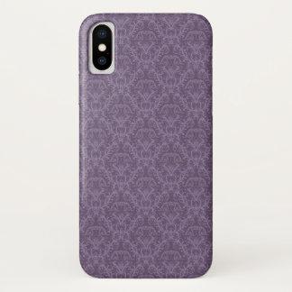 Capa Para iPhone X Papel de parede roxo luxuoso