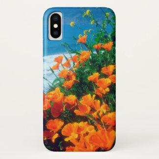 Capa Para iPhone X Papoilas ao longo da Costa do Pacífico perto de