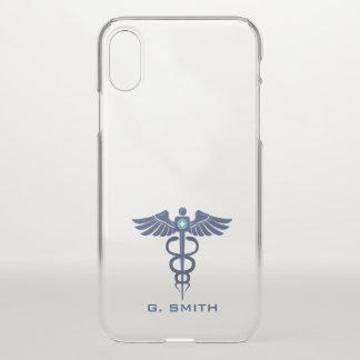 Capa Para iPhone X Para doutores e enfermeiras. Caduceus. médico