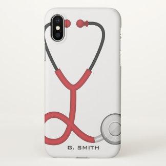 Capa Para iPhone X Para doutores e enfermeiras. Estetoscópio médico