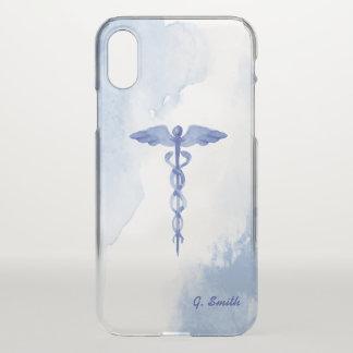 Capa Para iPhone X Para doutores & enfermeiras. Watercolor. médico do