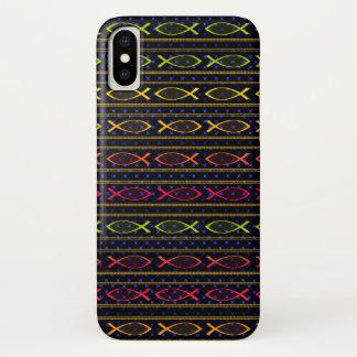 Capa Para iPhone X Peixes e corda de Jesus