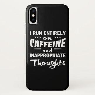 Capa Para iPhone X Pensamentos impróprios da cafeína do funcionamento