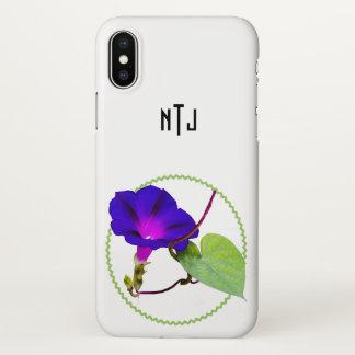 Capa Para iPhone X Personalize: Escolha a fotografia floral da rosa