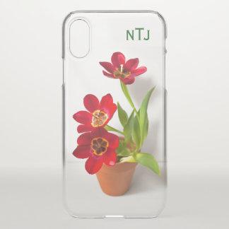Capa Para iPhone X Personalize:  Fotografia floral das tulipas