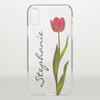 Capa Para iPhone X Personalize:  Uma fotografia floral da tulipa