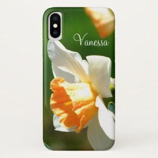 Capa Para iPhone X *Personalized* do Daffodil do abricó