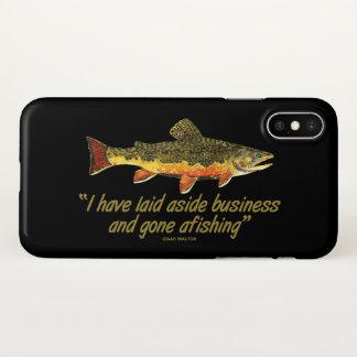 Capa Para iPhone X Pesca com mosca da truta de ribeiro
