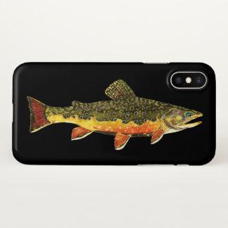 Capa Para iPhone X Pesca com mosca para a truta de ribeiro bonita