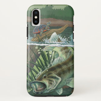 Capa Para iPhone X Pesca da perda Largemouth