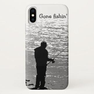 Capa Para iPhone X Pesca preto e branco no exemplo do iPhone X do
