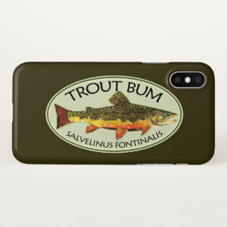 Capa Para iPhone X Pescador cómico do vagabundo da truta
