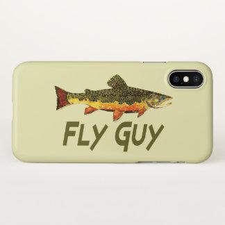 Capa Para iPhone X Pescador da truta de ribeiro da cara da mosca