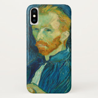 Capa Para iPhone X Pintura 1889 do retrato de auto de Vincent van