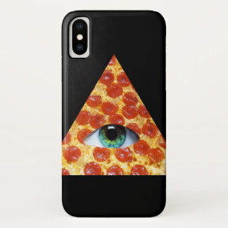 Capa Para iPhone X Pizza de Illuminati