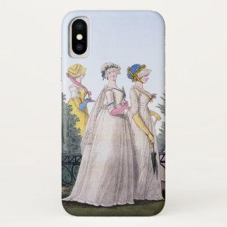 Capa Para iPhone X Placa de forma Jane Austen da regência