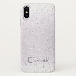 Capa Para iPhone X Placa de metal de prata
