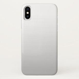 Capa Para iPhone X Planície cinzenta branca simples de Ombre