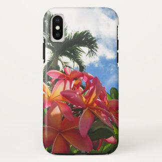 Capa Para iPhone X Plumeria havaiano