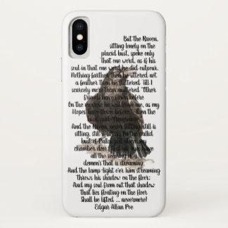 Capa Para iPhone X Poema do corvo do ponto de entrada do Dia das