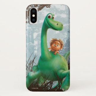 Capa Para iPhone X Ponto e Arlo que andam através da floresta