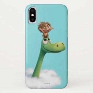 Capa Para iPhone X Ponto e cabeça de Arlo nas nuvens