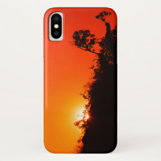 Capa Para iPhone X Por do sol da silhueta