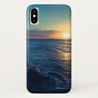 Capa Para iPhone X Por do sol do oceano