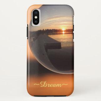 Capa Para iPhone X Por do sol sobre a bola de cristal da água - sonho